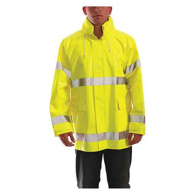 Tingley J53122 FR Rain Jacket, Hi-Vis Yellow/Green, 2XL