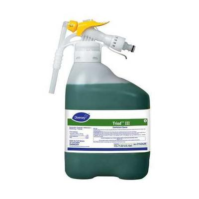 DIVERSEY 3143429 Triad III Disinfectant Cleaner, 5 L, Mint