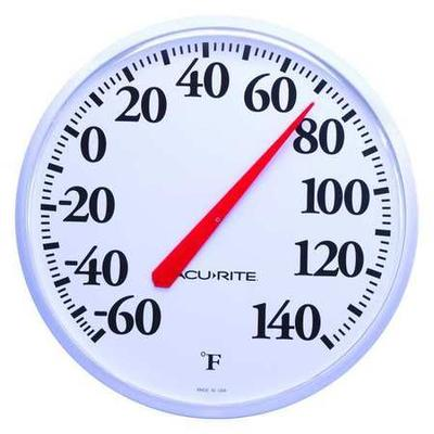VALUE BRAND 3LYK1 Analog Thermometer, -60 to 140 Degree F