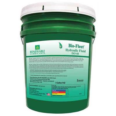 Renewable Lubricants Biodegradable Hydraulic Oil, 5 gal.,...