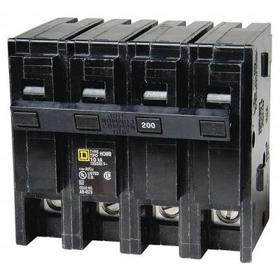Square D 2P Standard Plug In Circuit Breaker 200A 120/240...