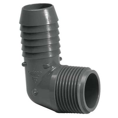 "1/2"" Insert x MNPT PVC Male 90 Degree Elbow LASCO 1413-005"