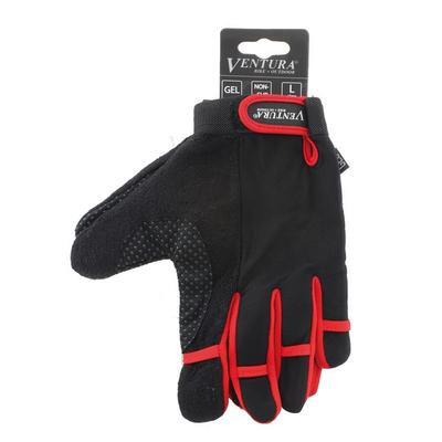 Ventura Full Finger Cycling Gloves, Adult Unisex, Size: XL, Red