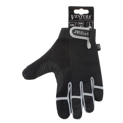 Ventura Full Finger Cycling Gloves, Adult Unisex, Size: XL, Grey