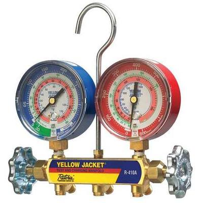 Yellow Jacket 42021 Mechanical Manifold Gauge Set, 2-Valve