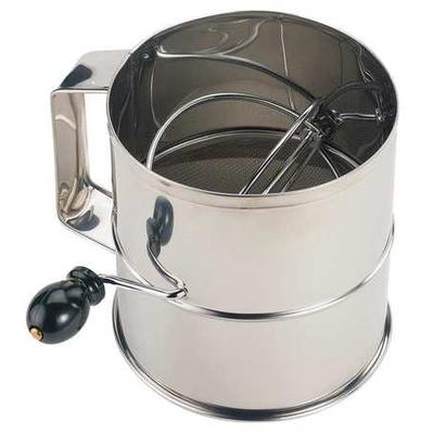 Crestware SFS08 Flour Sifter, Stainless Steel, 6-1/4 In