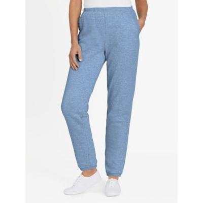 Women's Petite Fleece Pants by Blair, Denim, Size 2XL