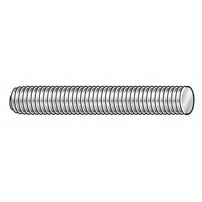 VALUE BRAND 58533 Threaded Stud, 316 SS, 1/4-20x2-1/2, PK10