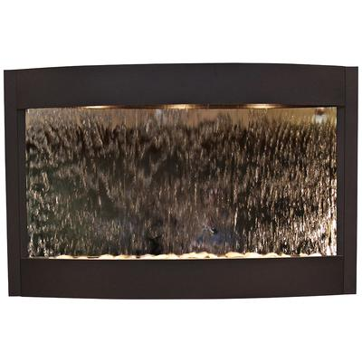 "ADAGIO Calming Waters Mirrored Textured Black 35""H Wall F..."