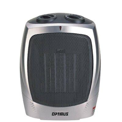 Optimus Portable Electric Fan Compact Heater with Thermos...