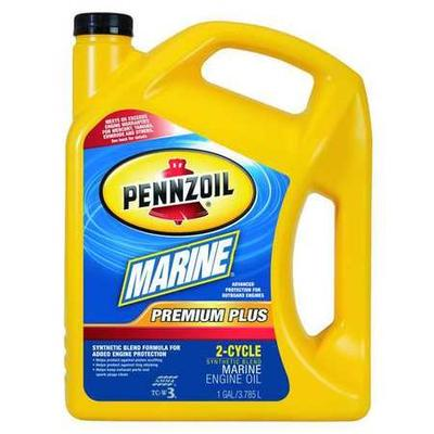 Pennzoil 550022757 Marine 2-Cycle Oil,1 gal.,30W,Prem Plus