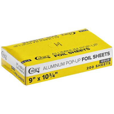 "Case of 2400 (12 Boxes of 200) 9"" x 10 3/4"" Gold / Silver..."