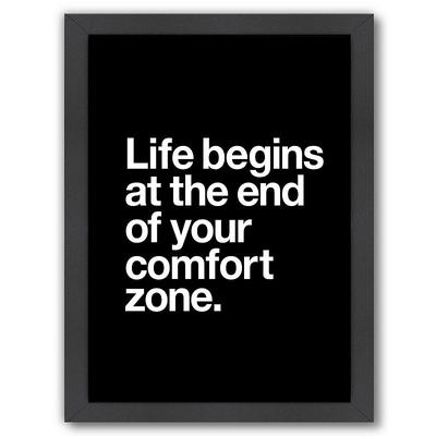 Americanflat ''Life Begins at the End of Your Comfort Zone'' Framed Wall Art, Multicolor