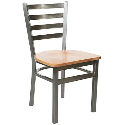 BFM Seating 2160CNTW-CL Lima Steel Side Chair with Natura...