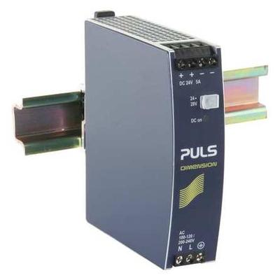 Puls CS5.241 DC Power Supply,Metal,24 to 28VDC,120W G0374221
