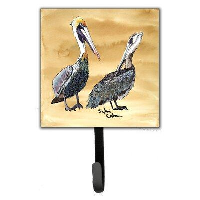 Caroline's Treasures Pelican Bird Leash Holder and Wall H...