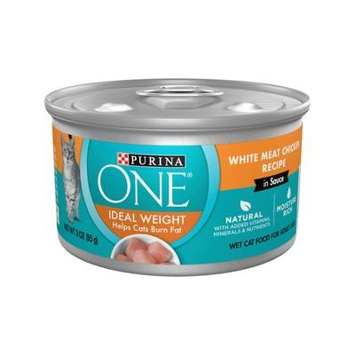 Purina ONE Ideal Weight White Meat Chicken Recipe in Sauc...