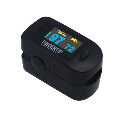 Concord BlackOx DELUXE Fingertip Pulse Oximeter with 6-way OLED Display, Carrying Case, Lanyard and Protective Cover