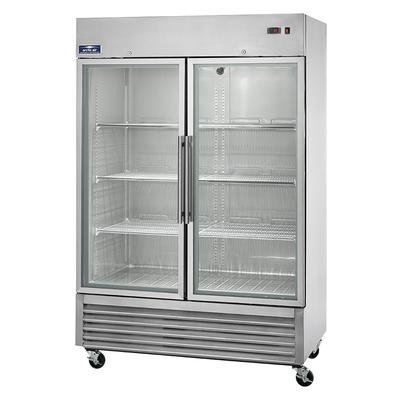 Arctic Air AGR49 54 Two Section Reach-In Refrigerator, (2) Glass Doors, 115v