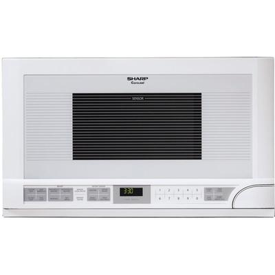 Sharp R1211T 1.5 Cu Ft. Over The Counter Microwave - White