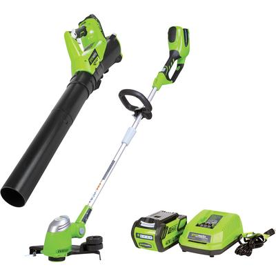 Greenworks G-Max Trimmer and Axial Blower Combo - 40V Lit...