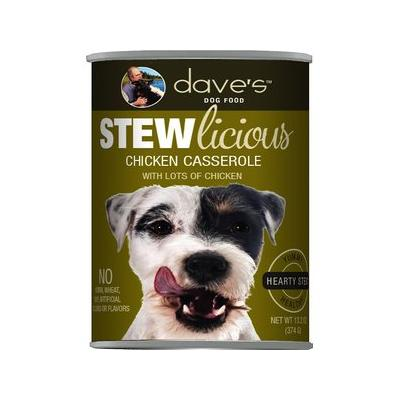 Dave's Pet Food Stewlicious Chicken Casserole Canned Dog ...