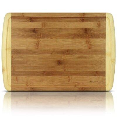 Heim Concept Organic Bamboo Cutting Board and Serving Tra...