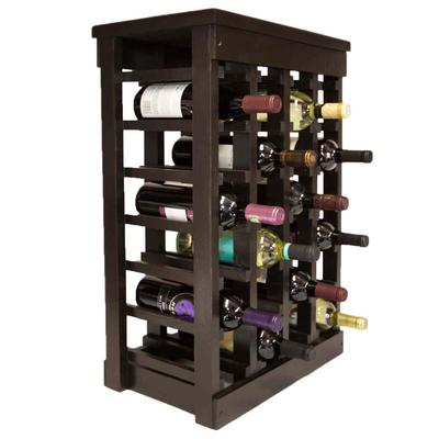 El Mar Furnishings 24 Bottle Classic Wood Wine Rack