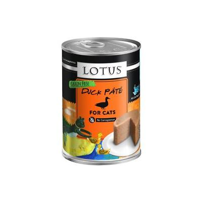 Lotus Duck Pate Grain-Free Canned Cat Food, 12.5-oz, case of 12