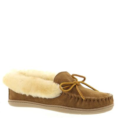 Minnetonka Alpine Sheepskin Moc - Womens 5 Tan Slipper Me...