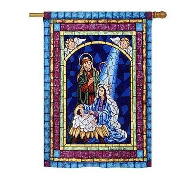 Breeze Decor Stained Glass Nativity 2-Sided Vertical Flag...