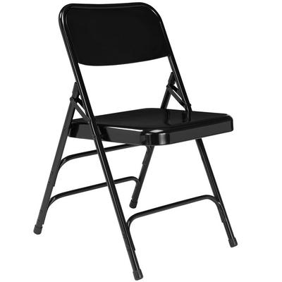 National Public Seating 310 Black Premium Metal Triple-Br...