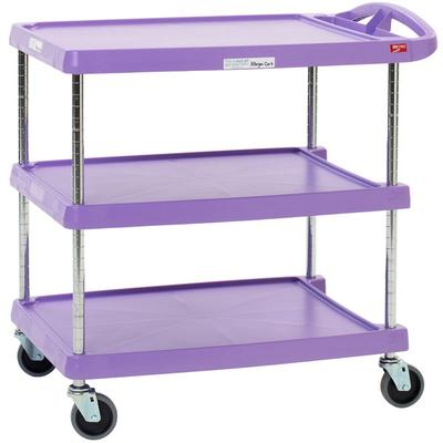 Metro myCart MY2030-34AP Purple Utility Cart with Three S...
