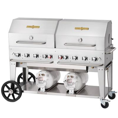 """Crown Verity CCB-60RDP 60"""" Outdoor Club Grill with 2 Hori..."""