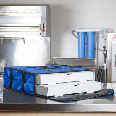 Choice Soft-Sided Insulated Pizza Delivery Bag, Blue Nylo...