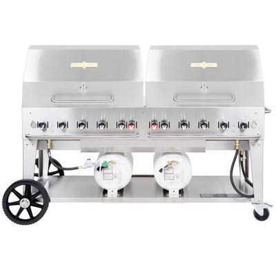 """Crown Verity CCB-72RDP 72"""" Outdoor Club Grill with 2 Hori..."""
