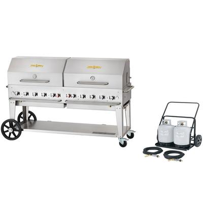 """Crown Verity MCC-72RDP 72"""" Mobile Outdoor Cart Grill with..."""