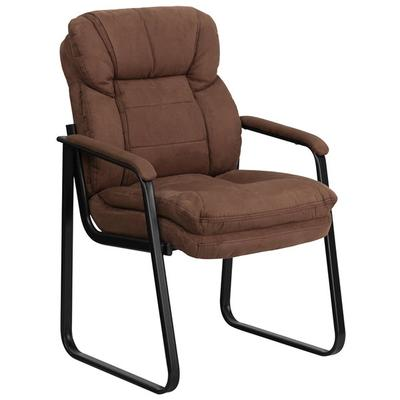 FLASH Furniture GO-1156-BN-GG Brown Microfiber Executive ...