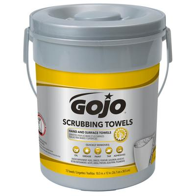 Gojo 6396-06 Scrubbing Towels Heavy Duty Wipes 72 Count C...