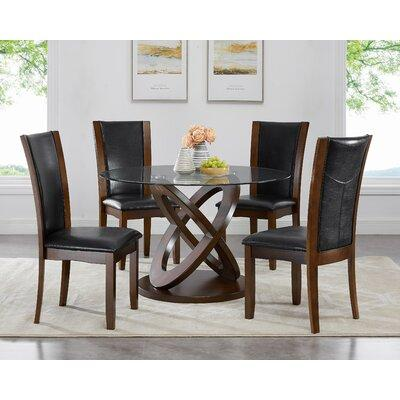 48 inch dining table transitional roundhill furniture cicicol piece dining set d085 dark espresso 48 inch tempered glass dining table compare prices