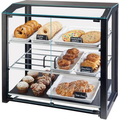 "CAL-MIL 3493-13L Black Large Bakery Display Case - 29"" x ..."