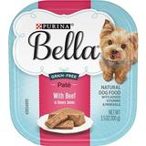 Purina Bella with Beef in Savory Juices Small Breed Dog Food Trays, 3.5-oz, case of 12 | White Wine Red
