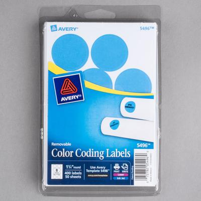 Avery AVE05496 Print Or Write Removable Round Color Coding Labels 1 4