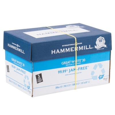 "Hammermill 86702 Great White 8 1/2"" x 11"" White Case of 3..."