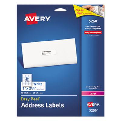 Dennison Avery - Labels - 25 PCS. Laser (5260)