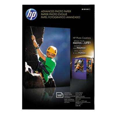 """HP Q6638A 4"""" x 6"""" Glossy Advanced Pack of 56# Photo Paper..."""