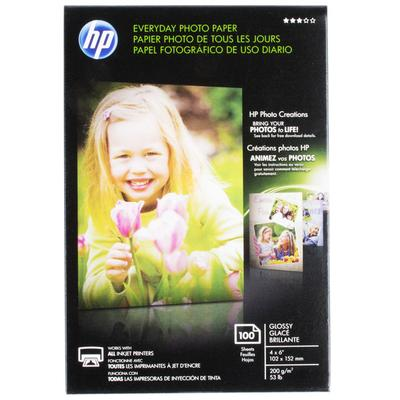 "HP CR759A 4"" x 6"" Glossy Everyday Pack of 53# Photo Paper"