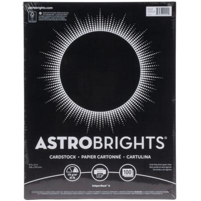 "Astrobrights 2202401 8 1/2"" x 11"" Eclipse Black Pack of 6..."
