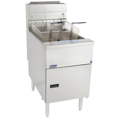 Pitco SG18-S Natural Gas 75 lb. Stainless Steel Floor Fryer