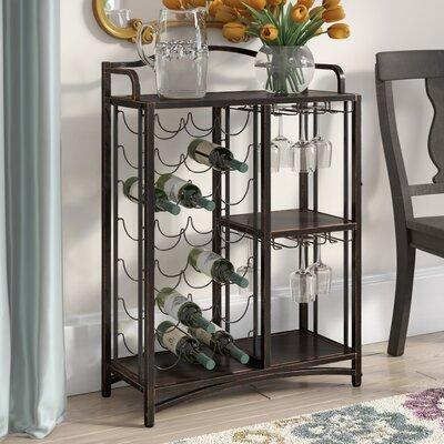 Darby Home Co Floyd Metal Storage 21 Bottle Floor Wine Bottle Rack DBYH5785